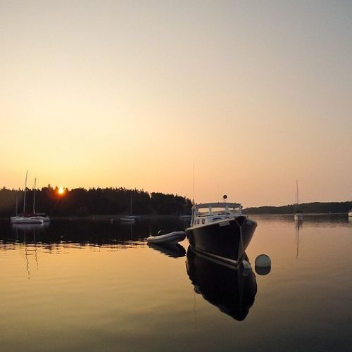 Moored boats at dawn. VisitNovaScotia LunenburgYachtClub Igersottawa Gopro PrincesInlet