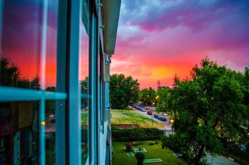 Reflection Sky Horizontal Nikon D7000 Sun Hora Azul Blue Hour