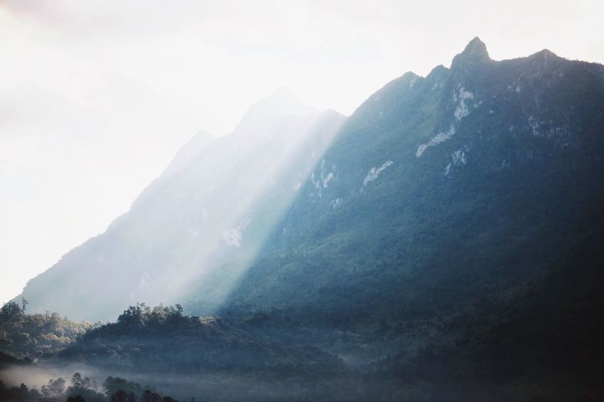 Mountain Beauty In Nature Mountain Range Nature Landscape No People Sky Fog Chiang Dao Chiang Mai   Thailand