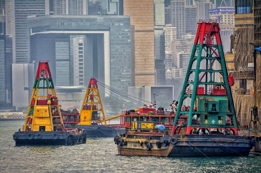 Pattern Tug Boat Busy City Harbour Cranes Waterfront Architecture_collection Artistic Expression EyeEm Gallery Art Is Everywhere Architecture Built Structure Full Frame Backgrounds Abstract