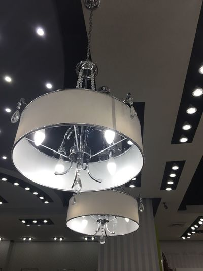 Illuminated Lighting Equipment Ceiling Hanging Low Angle View Indoors  Electricity  Electric Light Light Bulb No People Modern Night Nightclub Close-up Indoor Mexico Elegance Beauty Elégance Candelabrum Decorative Lights Beauty LampsEmAção Lamps And Lights. Indoors