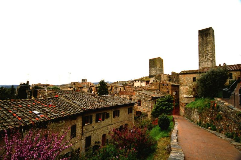 Spring Time In San Gimignano Spring Time Spring Time In Italy Old House Old Village Italy Sangimignano Flowering Trees Flowering Tree Blooming Old Buildings San Gimignano Old Building  Historical Building EyeEm In San Gimignano Showcase March Landscapes With WhiteWall