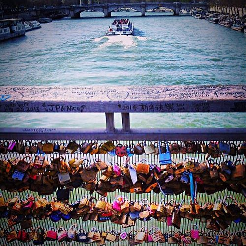 Paris, France  Boat Ride Padlock's Bridge Love Letters Architecture Private Moments