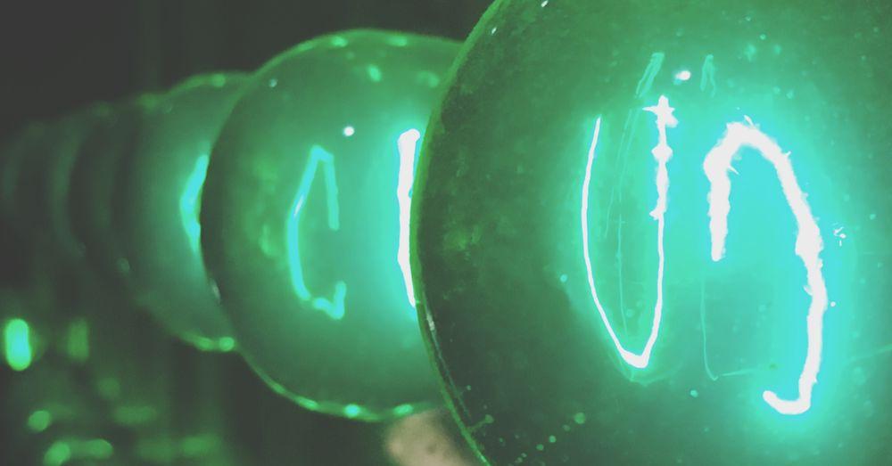 Green Color Foci Green Light