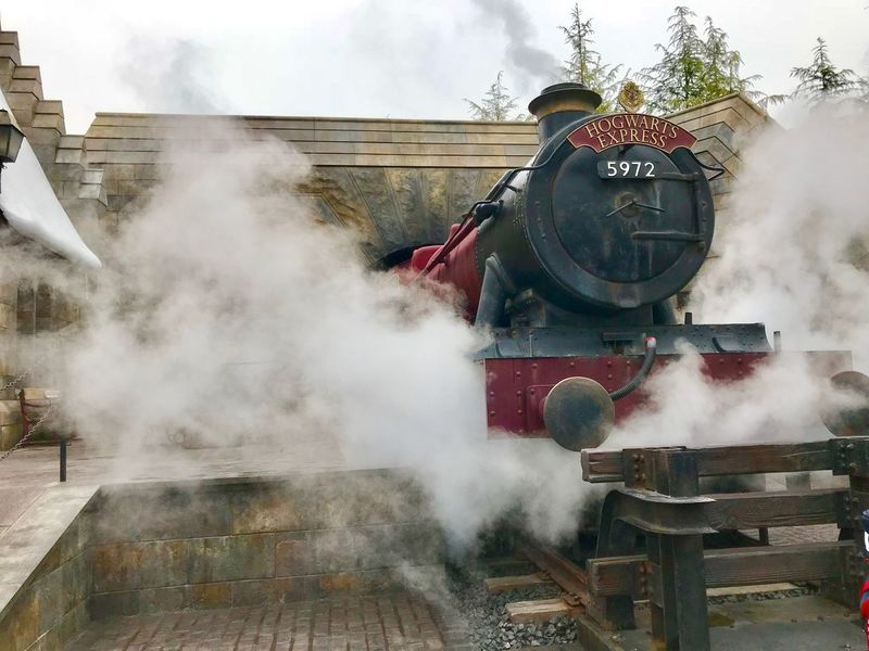 USJ Smoke - Physical Structure Building Exterior Architecture Built Structure Day Steam Outdoors Train Hogwarts Hogwarts Express Japan OSAKA Universal Studios  Universal Studios Japan