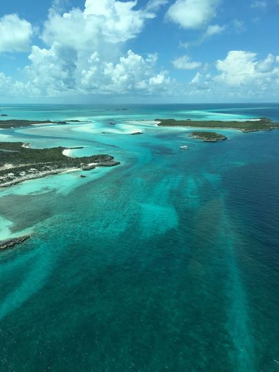 Northern Exuma Cays Bahamas Aerial Photography Sea And Sky Scenics Outdoors Islands Sea Beauty In Nature Exuma Clear Water Seascape Beachphotography Beach Island Blue Aerial View Turquoise