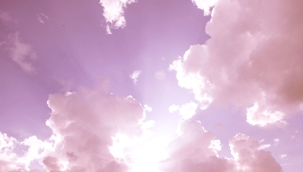 Backgrounds Beauty In Nature Blue Cloud Cloud - Sky Cloudscape Cloudy Day Dramatic Sky Full Frame Idyllic Low Angle View Majestic Nature No People Outdoors Overcast Pink Color Scenics Sky Sky Only Sunbeam Tranquil Scene Tranquility Weather