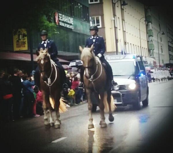 Kotkan Meripäivät Police PoliceHorses Sreetphotography