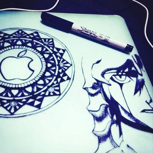 My laptop case ❤️ bleach Ulquiorra Bleach Drawing Art Ink Drawing NotDoneYet