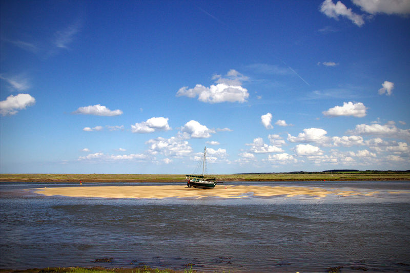 Beach Boat Marooned Norfolk Uk Sea Seaside Wells-next-the-Sea Landscapes With WhiteWall The KIOMI Collection The Great Outdoors With Adobe The Great Outdoors - 2016 EyeEm Awards Colour Of Life