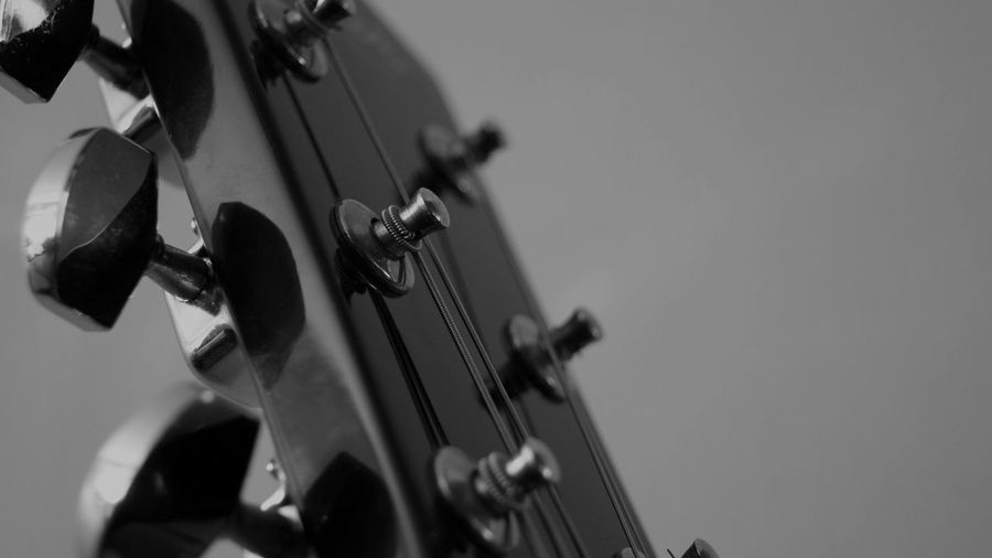 Guitar Arts Culture And Entertainment Black And White Blackandwhite Close-up Guitar Indoors  Music Musical Instrument No People String Instrument The Week On EyeEm Rethink Things Black And White Friday EyeEm Ready
