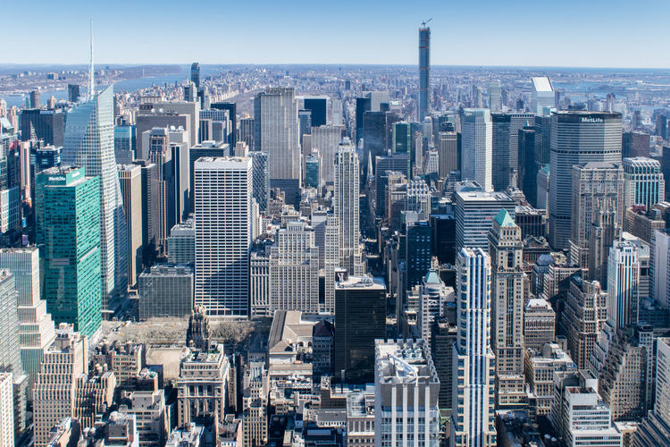 Aerial view of financial district