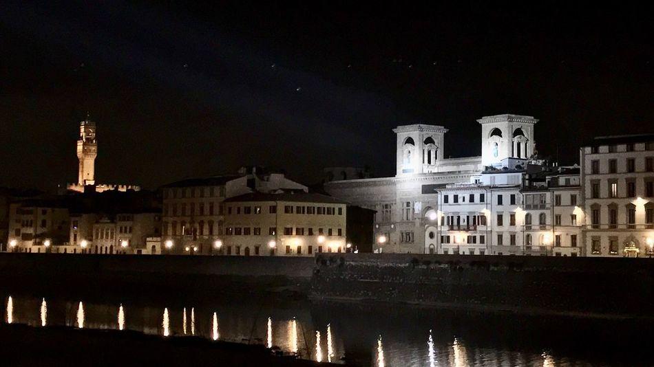 Night Architecture Illuminated Building Exterior City No People PalazzoVecchio Biblioteca Nazionale