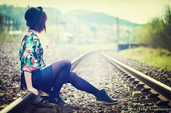 On the rail Rail Photography Model