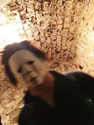 Love My Husband Halloween Michael Headshot Portrait One Person