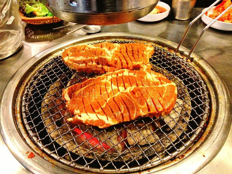 All-you-can-eat Galbi or Kalbi Unlimited Meat Pork Refill Iamfull Food Asian Foods Korean BBQ Korean Food Dinner Time Reasonable Price Ready-to-eat Daily Life Seoul Korea EyeEmNewHere