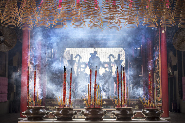Hau Thien Temple from Ho Chi Minh City, Vietnam. Religion Belief Spirituality Place Of Worship Architecture Indoors  Incense Building Human Representation Built Structure No People Altar Statue Smoke - Physical Structure Religious Equipment Shrine Hau Thien Temple ASIA Vietnam Ho Chi Minh City