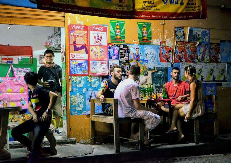 street night life, Chiangmai Thailand Hanging Out With Friends Hang Out Thailand Chiangmai Thailand Street Night Streetphotography Nightlife Hanging Out Drinking Chiangmai Night Life Multi Colored Arts Culture And Entertainment Graffiti The Street Photographer - 2018 EyeEm Awards