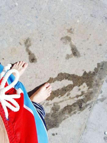 Colour Of Life Feet On The Ground Swimming Pool Summertime Bathing Suit  Man Bathing