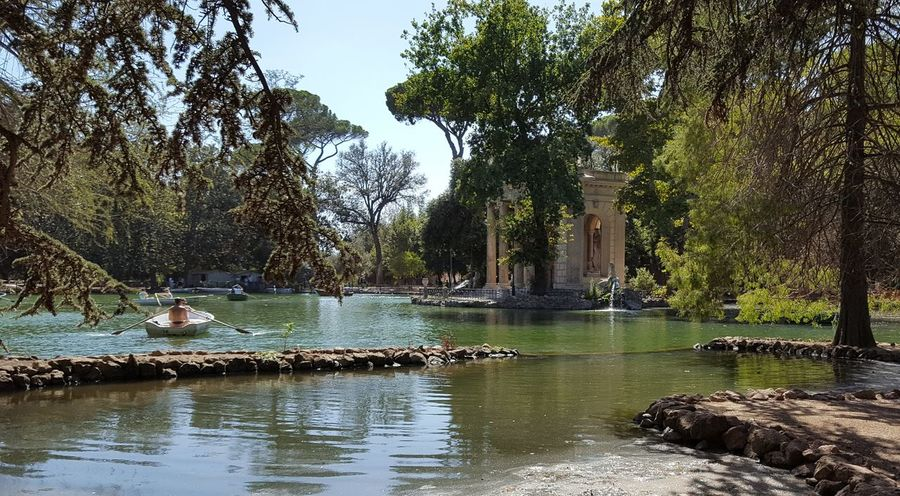 haven of peace in Rome Borghese Borghese Gardens Garden Giardino Water Tree History Reflection Architecture Outdoors Statue Vacations Travel Destinations Day Nature Beauty In Nature Sky Bird Blue And Green Blue Green Roma Rome Italia Italy Moving Around Rome Stories From The City