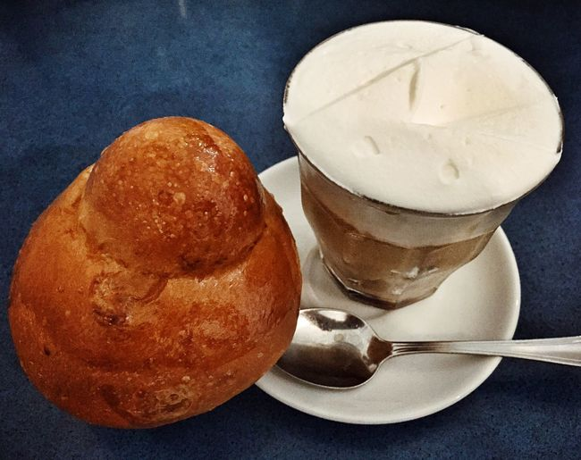 Perfect Sicilian Breakfast: Coffee & Cream Granita + Brioche...and the day may start Food Porn Awards Food Foodporn Breakfast Summer EyeEm Best Shots Getting Inspired Sicily Relaxing Foodphotography Eating In Sicily Costa Nord - Sicilia