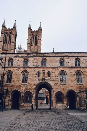 Gates to the cathedral Built Structure Building Exterior Architecture Sky Building Arch Clear Sky History The Past Nature Old Copy Space Day No People Travel Destinations Window Religion Outdoors Travel Low Angle View