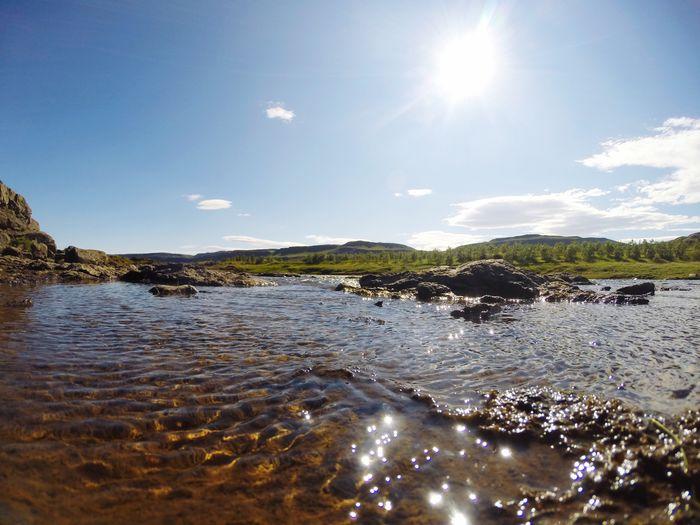 Sea Nature Water Lake Holiday Vacation Roadtrip Iceland Glannifoss Beauty In Nature Sunlight Sun