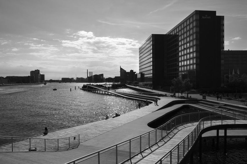 Kalvebod Brygge Archineos Architecture B&n B&w Bianco E Nero Black And White Blanco Y Negro Building Exterior City Cityscape Copenhagen Danimarca Denmark Kalvebod Brygge København Langebro Monochrome Photography Monocromo Outdoors Urban Urban Geometry Urban Landscape