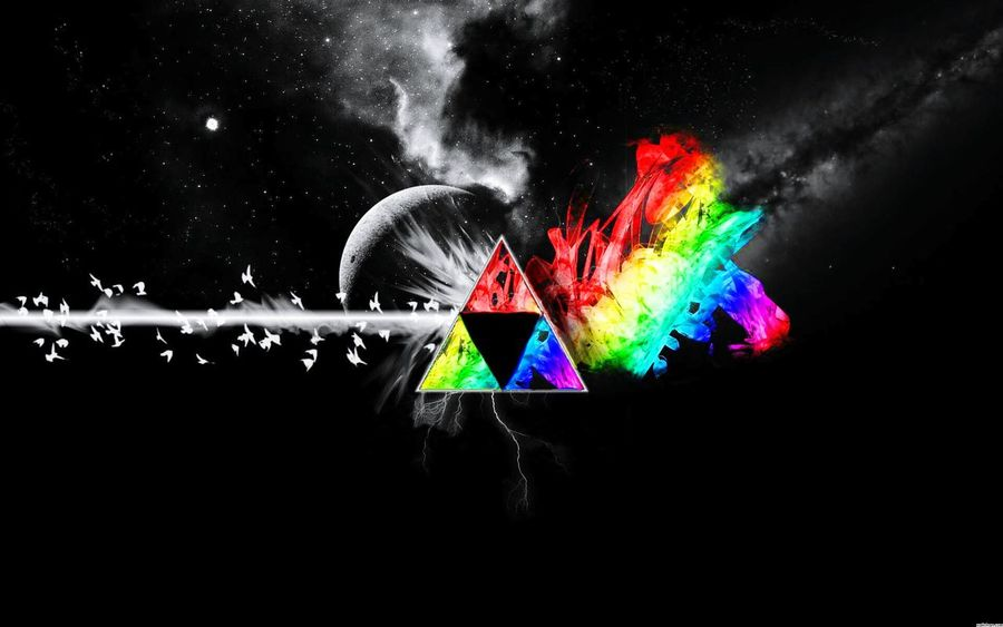My edit of the Zelda Triforce and pink Floyd. In school for digital photography. Check This Out Pinkfloydforlife Pinkfloyd Zelda Zeldafan Triforce