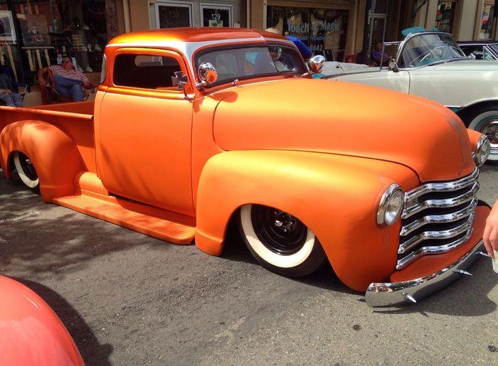Livermore car show Chop Top Flat Color Classic Truck Dropped Trucks