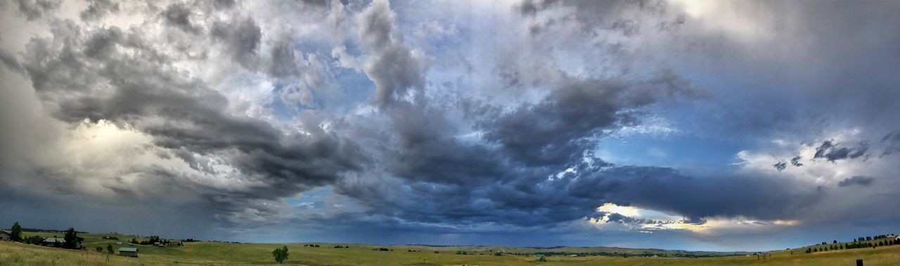 Cloud - Sky Sky Nature No People Landscape Scenics Outdoors Tranquility Beauty In Nature Tranquil Scene Day Field Panoramic Rural Scene Tree Storm Storm Cloud Landscape_photography Horizon Over Land Panoramic Photography
