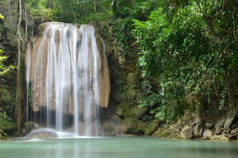 Waterfall Water Nature Tree Motion Outdoors Scenics Beauty In Nature No People Day Power In Nature Freshness