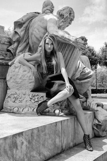 Women Portrait Of A Woman Pretty Woman Glamour Blackandwhite Woman Roma