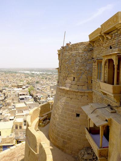 Ancient Architecture Building Exterior Built Structure City Culture Cultures Famous Place History India Jaisalmer Jaisalmer Fort Outdoors Tourism Travel Travel Destinations Walls