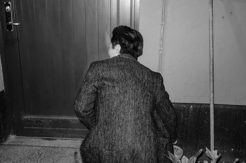 Blackandwhite Mensfashion Menswear Raw Men RAWphotography EyeEm Best Shots Eye4photography  Shadows EyeEm Selects EyeEm Best Shots - Black + White Urban Grunge Rebel Pattern Rear View Human Back Back Friend