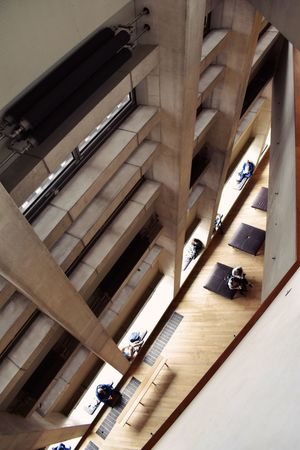 Built Structure Architecture Indoors  Architectural Column Day Real People TateModern Looking Down London Tiny People The Week On EyeEm