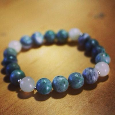 New Jade and Quartz Mala for sale! Jade Quartz Bracelets Bracelet