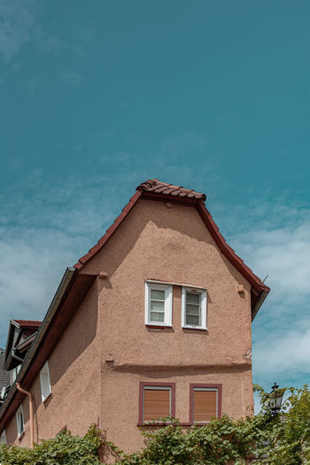Architecture Building Exterior Built Structure Building Sky Residential District House Nature No People Cloud - Sky Window Day Low Angle View Plant Outdoors Tree Roof Blue City Sunlight Altstadt Marburg An Der Lahn