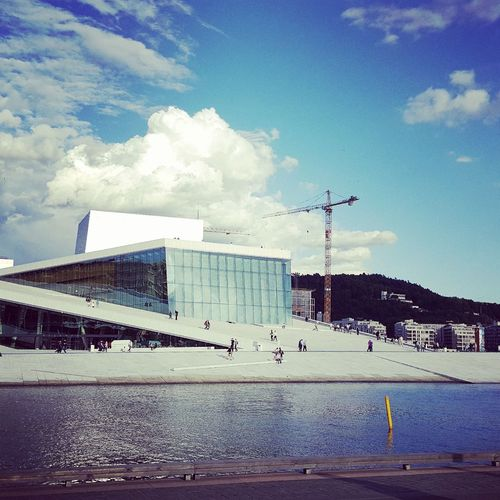 Norway Oslo Architecture Building Exterior Built Structure City Day Modern No People Outdoors Sky Water