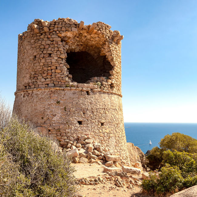 tower in corsica Ancient Ancient Civilization Architecture Built Structure Clear Sky Day History Nature No People Old Ruin Outdoors Sky Sunlight