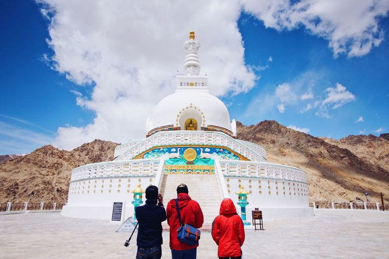 Live For The Story Religion Sky Spirituality Architecture History Travel Destinations Cloud - Sky Real People Built Structure Day Place Of Worship Large Group Of People Men Dome Women Outdoors Building Exterior Nature People Adult Leh Ladakh.. Summertime Canon Canonphotography