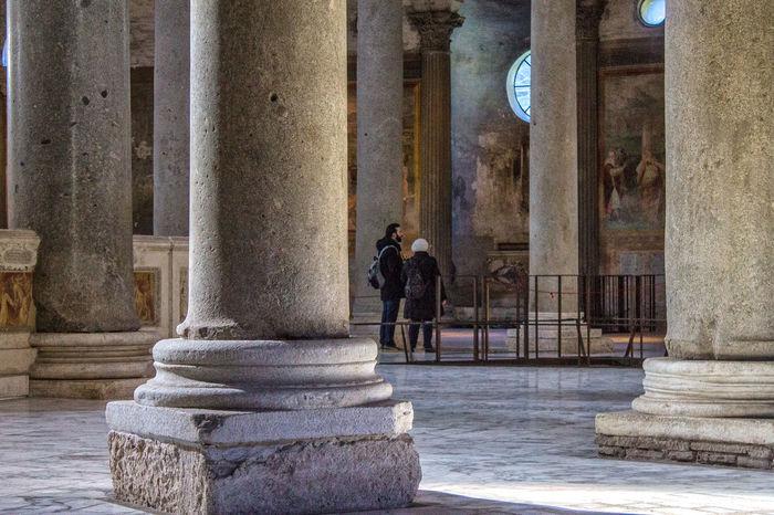 Santo Stefano Rotondo Arte Romana Canon Chiesa Di San Giuseppe Dei Teatini Colonne Roma Antica