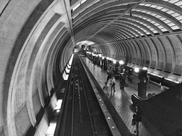 IPhoneography Monochrome Black And White Street Photography Transportation Subway Notes From The Underground Metro Station