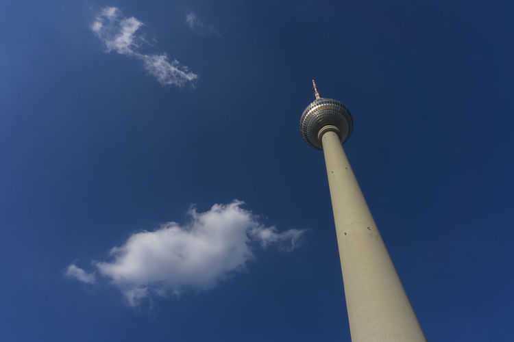 TV Tower in Berlin, Germany Antenna - Aerial Architecture Berlin Blue Broadcasting Built Structure City Cloud - Sky Color Image Communication Dome Germany🇩🇪 Horizontal Low Angle View No People Outdoors Scenics Sky Tall - High Tourism Tower Travel Travel Destinations Tv Tower Berlin
