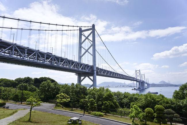 Ehime Japan Japan Photography Blue Bridge Okayama Seto Bridge Sky 日本 瀬戸大橋