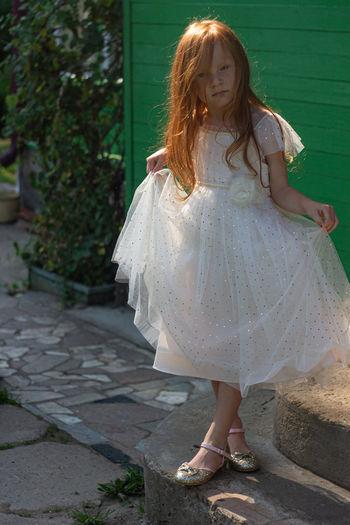 Little redhead princess