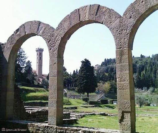 Arch Outdoors Monument Photography Fotografia Colours Of Life Colour Photography Scenics Tranquility Tranquil Scene Italy Travel Tourism Firenze Florence Italy Fiesole Archeological Complex