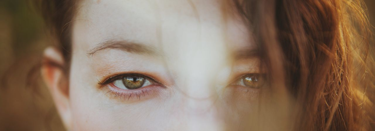 Human Eye Looking At Camera Young Women Close-up Portrait Women Beautiful Woman Nature
