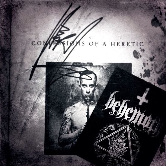 Behemoth Nergal Confessions Of A Heretic Mark Eglinton Book Signet Book Metal Metalhead Black And White