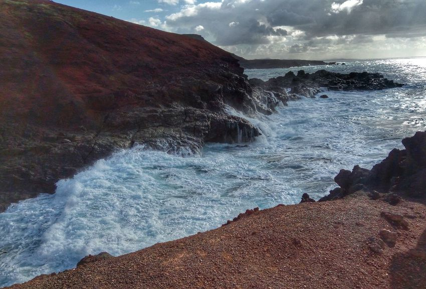 The Green Lagune near El Golfo, Lanzarote. Week before Christmas 2016. Atlantic Ocean Canary Islands December 2016 El Golfo Lanzarote Laguna Verde Lanzarote Lava Rainy Days Vulcano Island